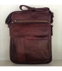 กระเป๋าสะพายหนังแท้ลด 50รุ่นกระเป๋าหน้าสีน้ำตาลเข้ม