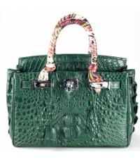 กระเป๋าสะพายหนังจระเข้แท้จระเข้แท้ Hermes (M) เขียว
