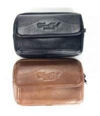 กระเป๋าหนังแท้ใส่มือถือจัมโบ้มือถือ3เครื่อง