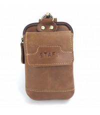 กระเป๋าหนังแท้ร้อยเข็มขัดใส่มือถือiPhone6-7พลัส