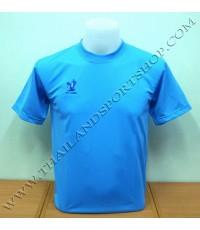 เสื้อกีฬา FLY HAWK รุ่น A 939 (สีฟ้า SB) สีล้วน