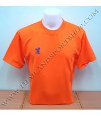 เสื้อกีฬา FLY HAWK รุ่น A 939 (สีส้ม O) สีล้วน