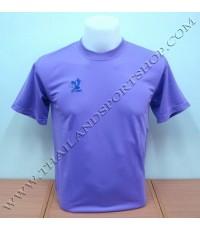เสื้อกีฬา FLY HAWK รุ่น A 939 (สีม่วง LV) สีล้วน