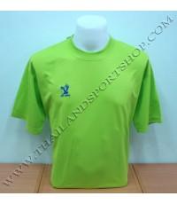 เสื้อกีฬา FLY HAWK รุ่น A 939 (สีเขียว LG-1) สีล้วน