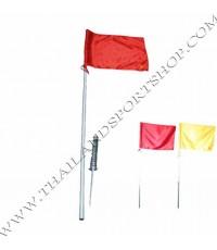 เสามุมธง สนามฟุตบอล ล้มลุก รุ่น มาตรฐาน (สูง 1.5 m., ธง กว้าง 60xสูง 40 cm. จำนวน 1 เสา) PRO