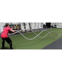 Training Rope เชือก เทรนนิ่ง ขนาด 1.5 นิ้ว x 30 ฟุต (สำหรับฝึกกำลังแขน-ขา และการทรงตัว)