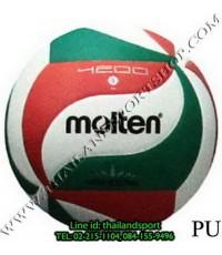 ลูกวอลเลย์บอล มอลเทน Molten รุ่น V5M4200 (สีเขียว-แดง-ขาว GRW) เบอร์ 5 หนังอัด PU สนามกลางแจ้ง NNN