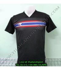 เสื้อกีฬา เรียล REAL รหัส RAX003 (สีดำ A) พิมพ์ลาย