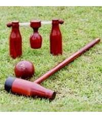 วู้ดบอล woodball พร้อมกระเป๋า รุ่น เดี่ยว, คู่, แข่งขัน (br) k+