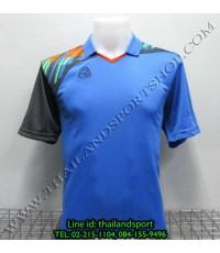 เสื้อกีฬา อีโก้ สปอร์ต EGO SPORT คอปก รุ่น EG5108 (สีฟ้า L) พิมพ์ลาย คอปก