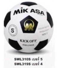 ลูกฟุตบอล มิกาซ่า Mikasa รุ่น SWL310S เบอร์ 5 และ SWL319S เบอร์ 4 (WBK) เบอร์ 5, 4 PVC