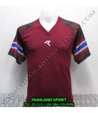เสื้อกีฬา เรียล REAL รหัส RAX005 (สีเลือดหมู MU)