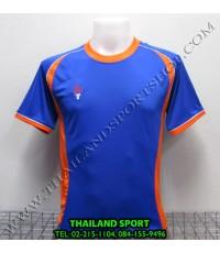 เสื้อกีฬา สปอร์ต เดย์ SPORT DAY รุ่น SA001 (สีน้ำเงิน-ส้ม BL) ตัดต่อ