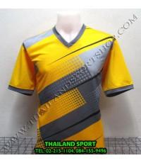 เสื้อกีฬา คอวี พิมพ์ลาย หมี คูล MHEE COOL รุ่น MV (สีเหลือง Y)