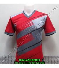 เสื้อกีฬา คอวี พิมพ์ลาย หมี คูล MHEE COOL รุ่น MV (สีแดง R)