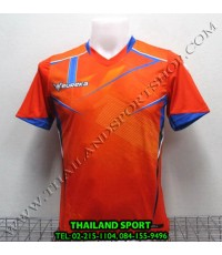 เสื้อกีฬา ยูเรก้า EUREKA รุ่น A5031 (สีส้ม O) พิมพ์ลาย (BODY FIT).