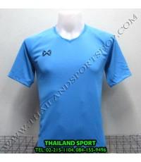 เสื้อกีฬา วอริค WARRIX รหัส WA 1553 (สีฟ้า L) สีล้วน