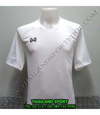 เสื้อกีฬา วอริค WARRIX รหัส WA 1553 (สีขาว W) สีล้วน