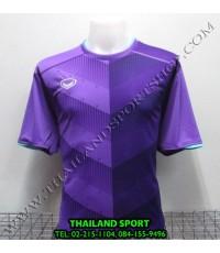 เสื้อกีฬา แกรนด์ สปอร์ต Grand Sport รุ่น 011-447 (สีม่วง V) พิมพ์ลาย