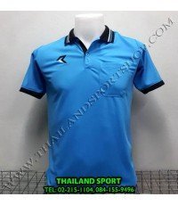 เสื้อโปโลกีฬา POLO เรียล REAL รุ่น RAC-008 (สีฟ้า LA) มีกระเป๋า