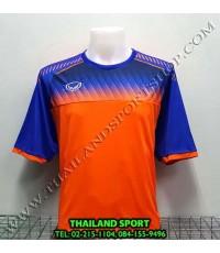 เสื้อกีฬา แกรนด์ สปอร์ต Grand Sport รุ่น 11-456 (สีส้ม) พิมพ์ลาย