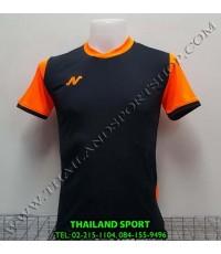 เสื้อกีฬา NEECON รหัส NA-1504 (สีดำ/ส้ม)