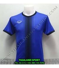 เสื้อกีฬา แกรนด์ สปอร์ต Grand Sport รุ่น 11-464 (สีน้ำเงิน) พิมพ์ลาย