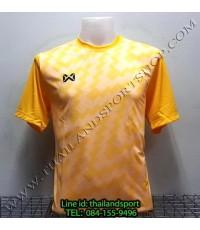 เสื้อกีฬา วอริค WARRIX รหัส WA 1555 (สีเหลือง YY) พิมพ์ลาย