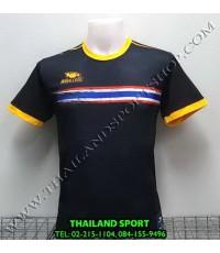 เสื้อกีฬา หมี คูล MHEE COOL รุ่น MO2 คอกลม พิมพ์ลายธงชาติ (สีดำ)