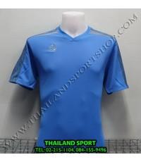 เสื้อ อีโก้ EGO SPORT รหัส EG-5122 (สีฟ้าเข้ม) คอวีตัดต่อ