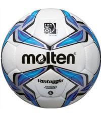 ลูกฟุตบอล มอลเทน football molten รุ่น f5v4800 (wb) เบอร์ 5 หนังอเย็บมือ pu pro ok