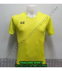เสื้อกีฬา วอริค warrix รหัส wa-fba572 (สีเขียวสะท้อนแสง g2) ผ้าทอลาย