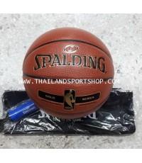 ลูกบาสเกตบอล SPALDING NBA รุ่น GOLD (INDOOR  OUTDOOR) เบอร์ 7 หนัง N4N21
