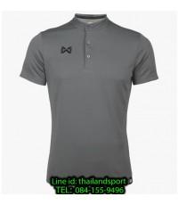 เสื้อโปโลกีฬา คอจีน polo วอริกซ์ warrix รุ่น wa-3329 (สีเทา ee)