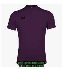 เสื้อโปโลกีฬา คอจีน polo วอริกซ์ warrix รุ่น wa-3329 (สีม่วง vv)