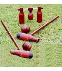อุปกรณ์ วู้ดบอลt. woodball (ไม้, ลูก, ประตู, ยาง) k+