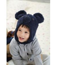 หมวกคาวาอิ หน้าหมีโคอาลา หูใหญ่ (สีน้ำเงินเข้ม)