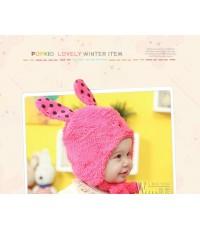 หมวกเจ้าหญิง หูกระต่าย (สีชมพู) เนื้อนิ่มม๊ากกก