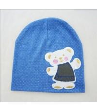 หมวกแร๊ป คุณหมี (สีฟ้า) หมวกเด็กเกาหลี น่ารักๆ