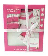 Gift Set ชุดของขวัญ สำหรับเด็กอ่อน Wonder Child Collection 4 รายการ (WC002-01) สีชมพู