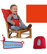 ที่นั่งผ้ารัดตัวเด็ก ประคองตัวเด็กนั่งเก้าอี้ ยี่ห้อ Sack n Seat แบบที่ 1 สีแดง