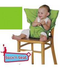ที่นั่งผ้ารัดตัวเด็ก ประคองตัวเด็กนั่งเก้าอี้ ยี่ห้อ Sack n Seat แบบที่ 5 สีเขียว