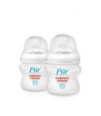 ขวดนม PUR รุ่น Comfort feeder ขนาด 5 ออนช์ แพ็คคู่ ความเร็วการใหล ขนาดกลาง slow flow