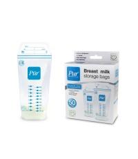 ถุงเก็บน้ำนม Pur Breast milk Storage Bags ขนาด 9 ออนซ์ (ซิปล๊อก 2 ชั้น) ชุด 50 ชิ้น ยี่ห้อ PUR