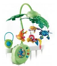 โมบายแขวน Rainforest Peek-A-Boo Leaves Musical Mobile มีเพลง หมุนได้ ครบเครื่อง ยี่ห้อ Fisher Price