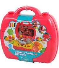กระเป๋าแป้งโดว์ Dough  Carry-BBQ Party (สีแดง) ปลอดภัยด้วยวัสดุธรรมชาติ BPA fee ยี่ห้อ PLAYGO