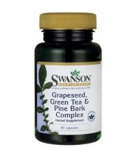 Swanson Grape Seed,Green Tea  Pine Bark Complex 60 Caps