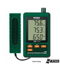 เครื่องบันทึกอุณหภูมิ ความชื้น CO2, Humidity and Temperature Datalogger, SD CARD รุ่น SD800
