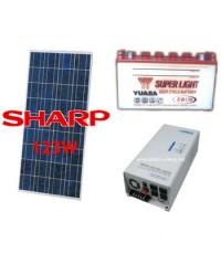 ชุดระบบไฟฟ้าพลังงานเซลล์แสงอาทิตย์ Solar cell ขนาด 123 วัตต์ สุดคุ้ม ! ***สินค้าหมด***