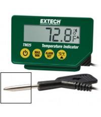 เครื่องวัดอุณหภูมิ ตั้งค่าเตือน Alarm Hi-LOW สูง-ต่ำได้ Compact Temperature Indicator รุ่น TM25
